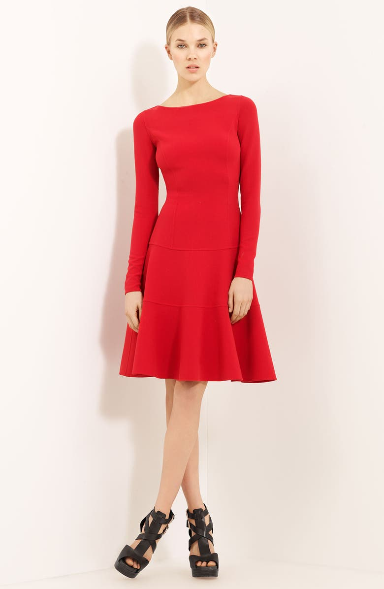 MICHAEL KORS Wool Crepe Dress, Main, color, 600