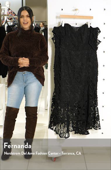 Lace Off the Shoulder High/Low Cocktail Dress, sales video thumbnail