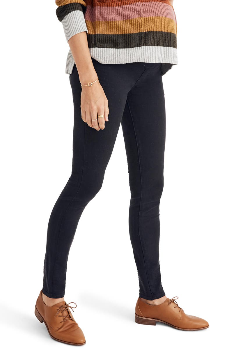 MADEWELL Over the Belly Maternity Skinny Jeans, Main, color, LUNAR