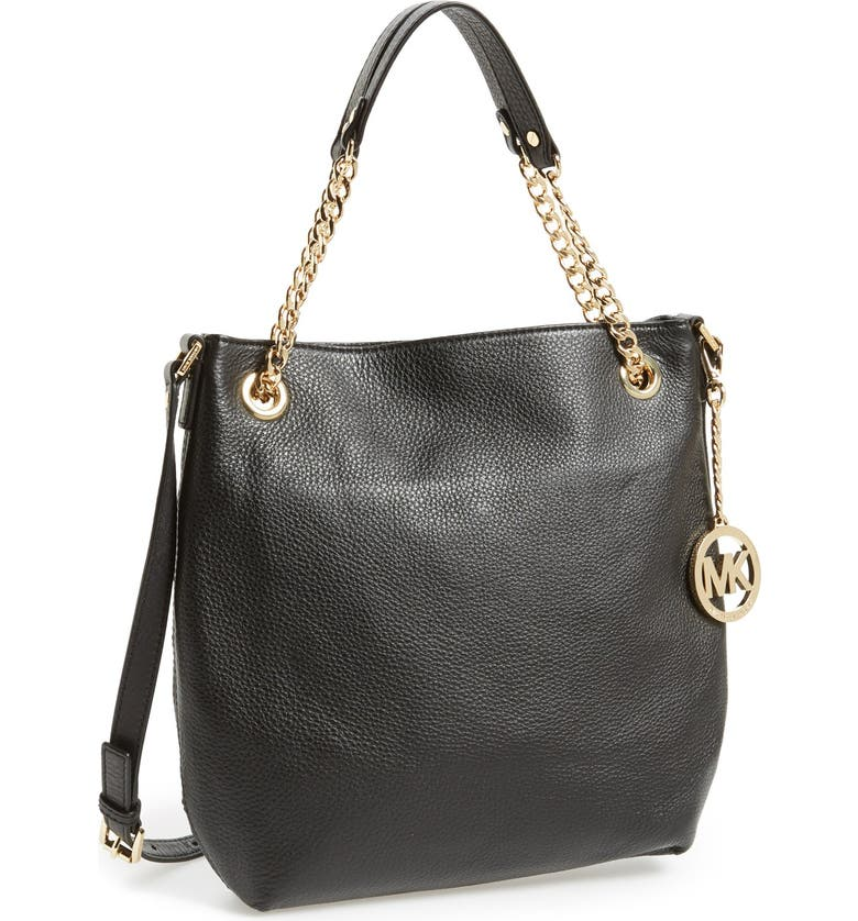 MICHAEL MICHAEL KORS 'Jet Set - Medium' Chain Shoulder Tote, Main, color, 001