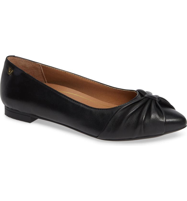 VIONIC Gramercy Pointy Toe Flat, Main, color, 001