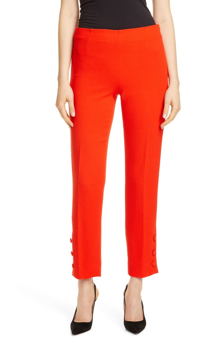 LELA ROSE Button Cuff Pants, Main, color, 609