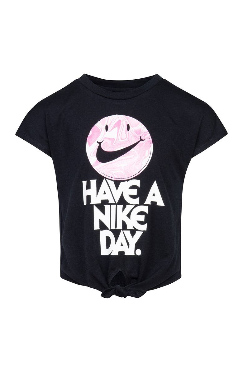 NIKE 'Have A Nike Day' Tie Front T-Shirt, Main, color, 023TRENCHE