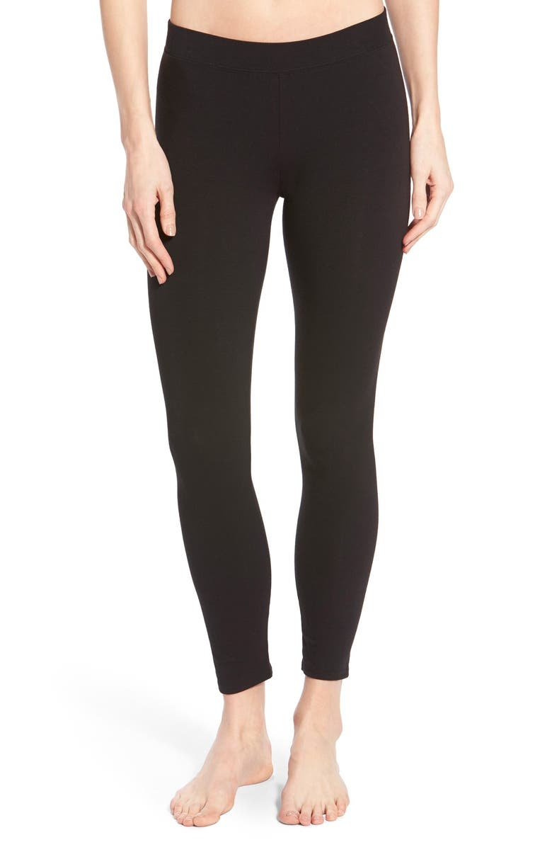 NORDSTROM Go-To Skimmer Ankle Leggings, Main, color, 001