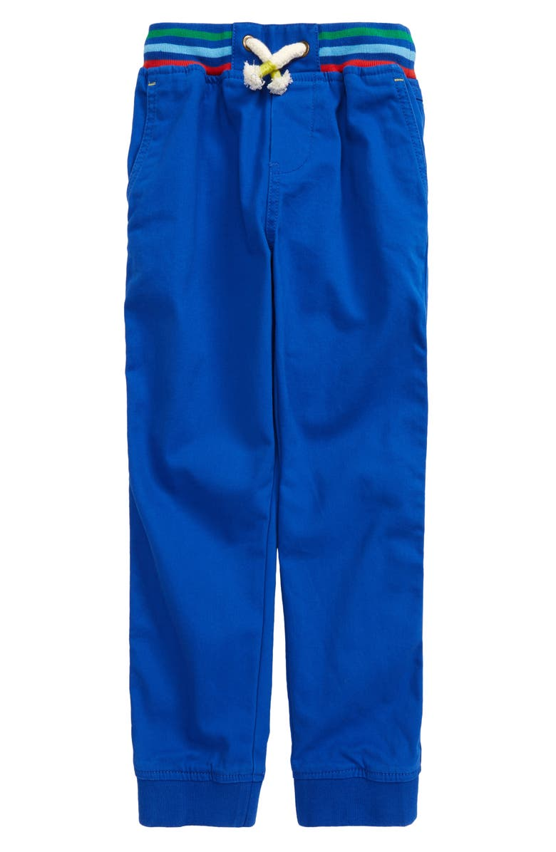 MINI BODEN Kids' Relaxed Slim Pull-On Pants, Main, color, BRILLIANT BLUE