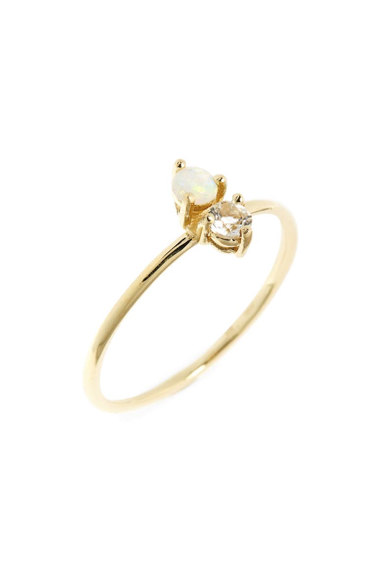 BONY LEVY Birthstone Stacking Ring, Main, color, OCTOBER/ OPAL