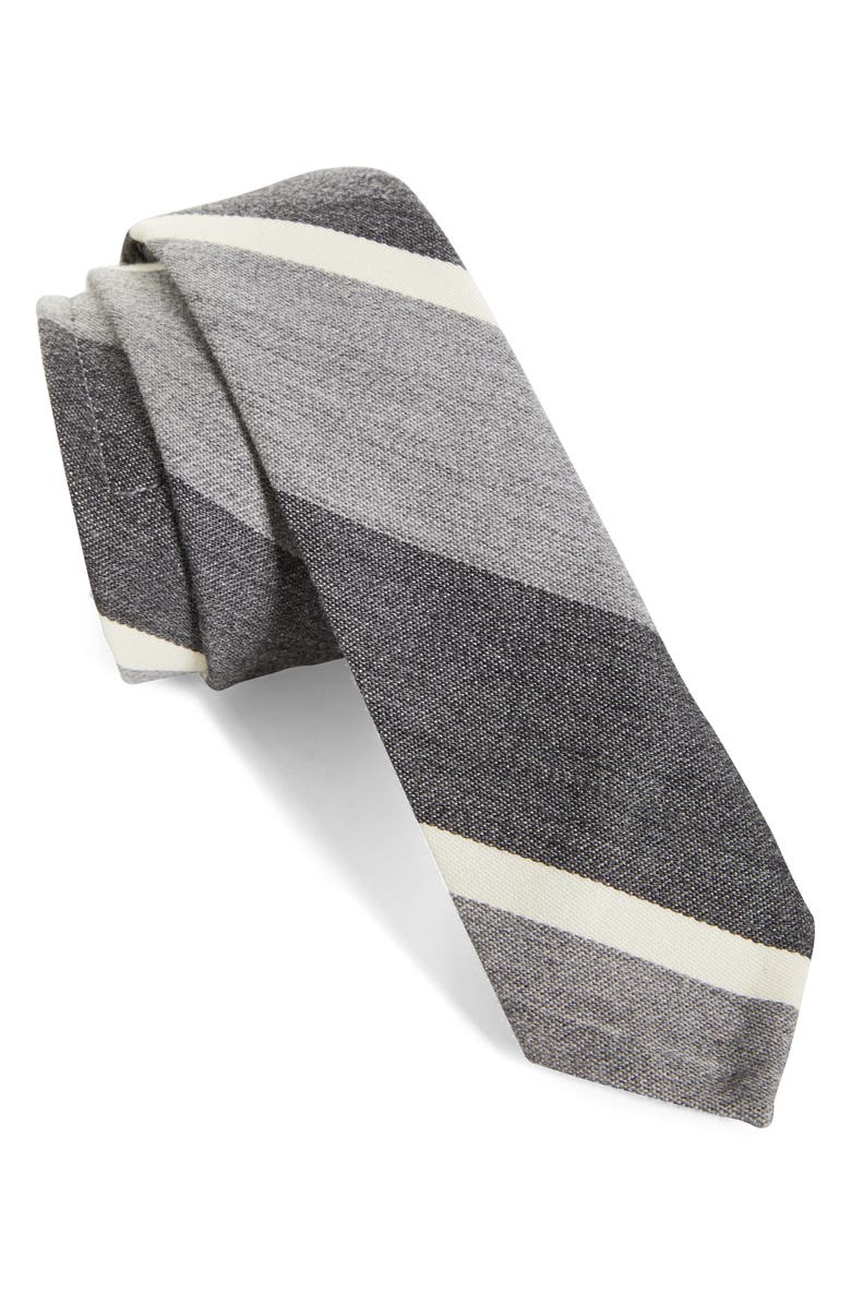THOM BROWNE Stripe Wool & Cotton Tie, Main, color, 035