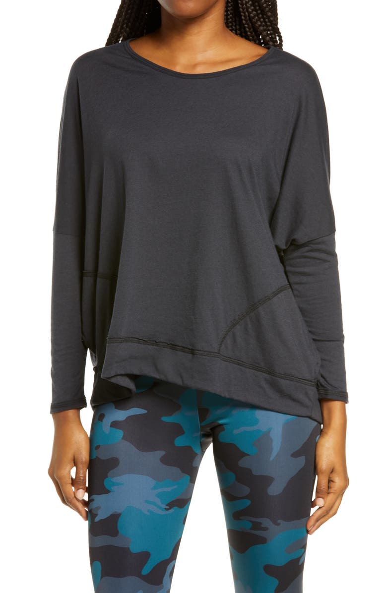 ONZIE Long Sleeve Top, Main, color, 001