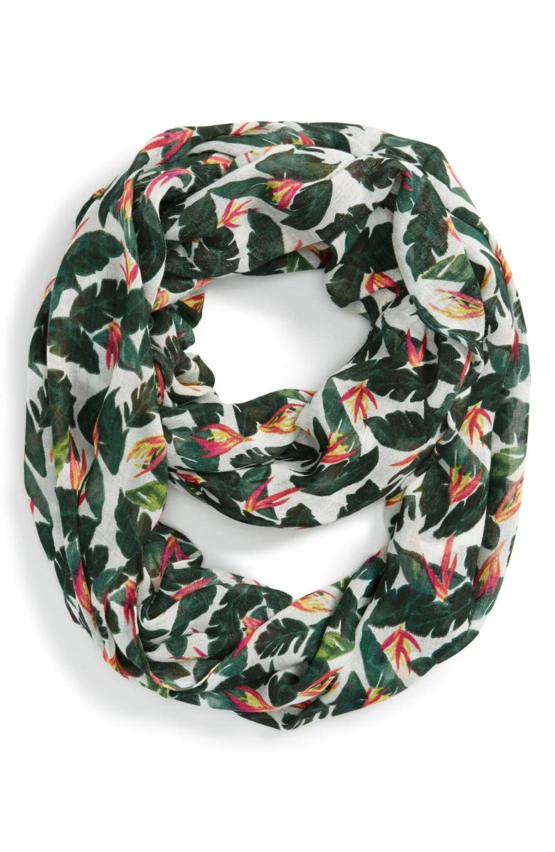 SOLE SOCIETY Palm Print Infinity Scarf, Main, color, 960