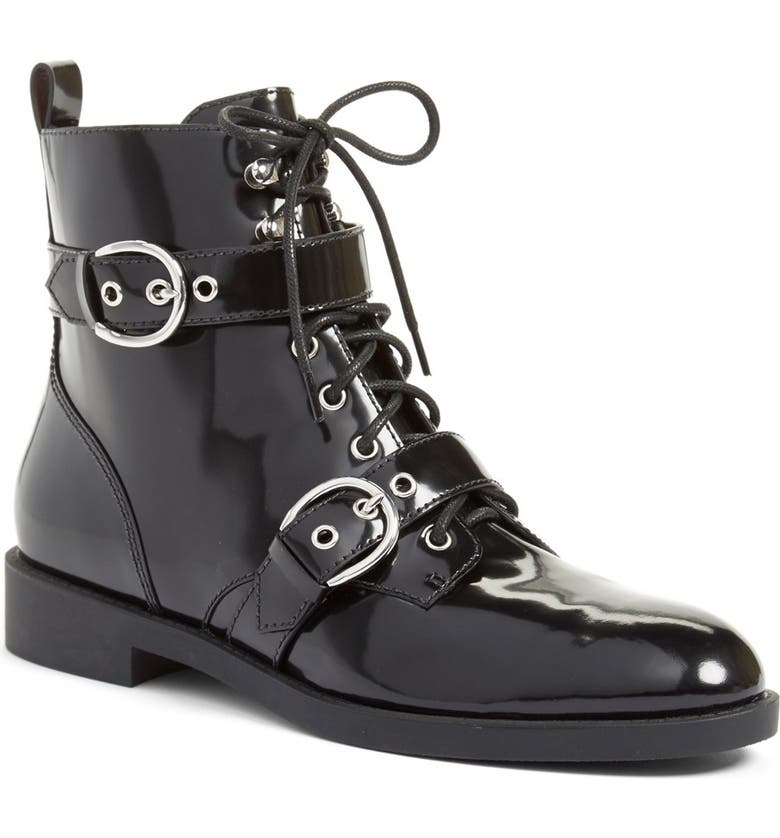 MARC JACOBS 'Taylor' Moto Ankle Boot, Main, color, 001