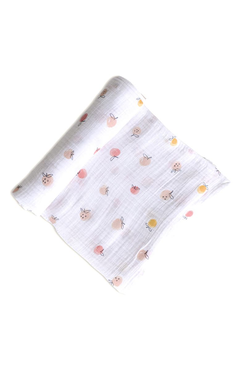 PEHR Strawberry Fields Organic Cotton Swaddle Blanket, Main, color, MULTI