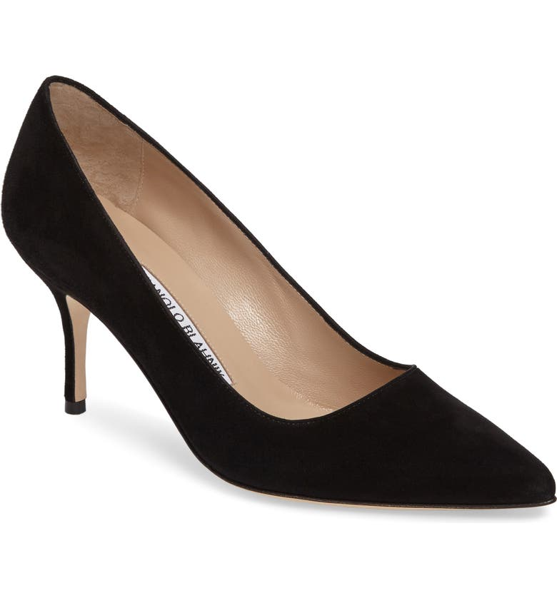 MANOLO BLAHNIK BB Pump, Main, color, BLACK SUEDE
