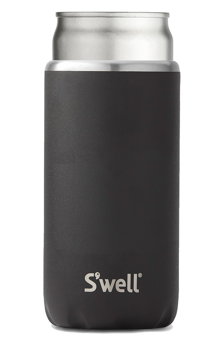 S'WELL 12-Ounce Slim Stainless Steel Drink Chiller, Main, color, ONYX