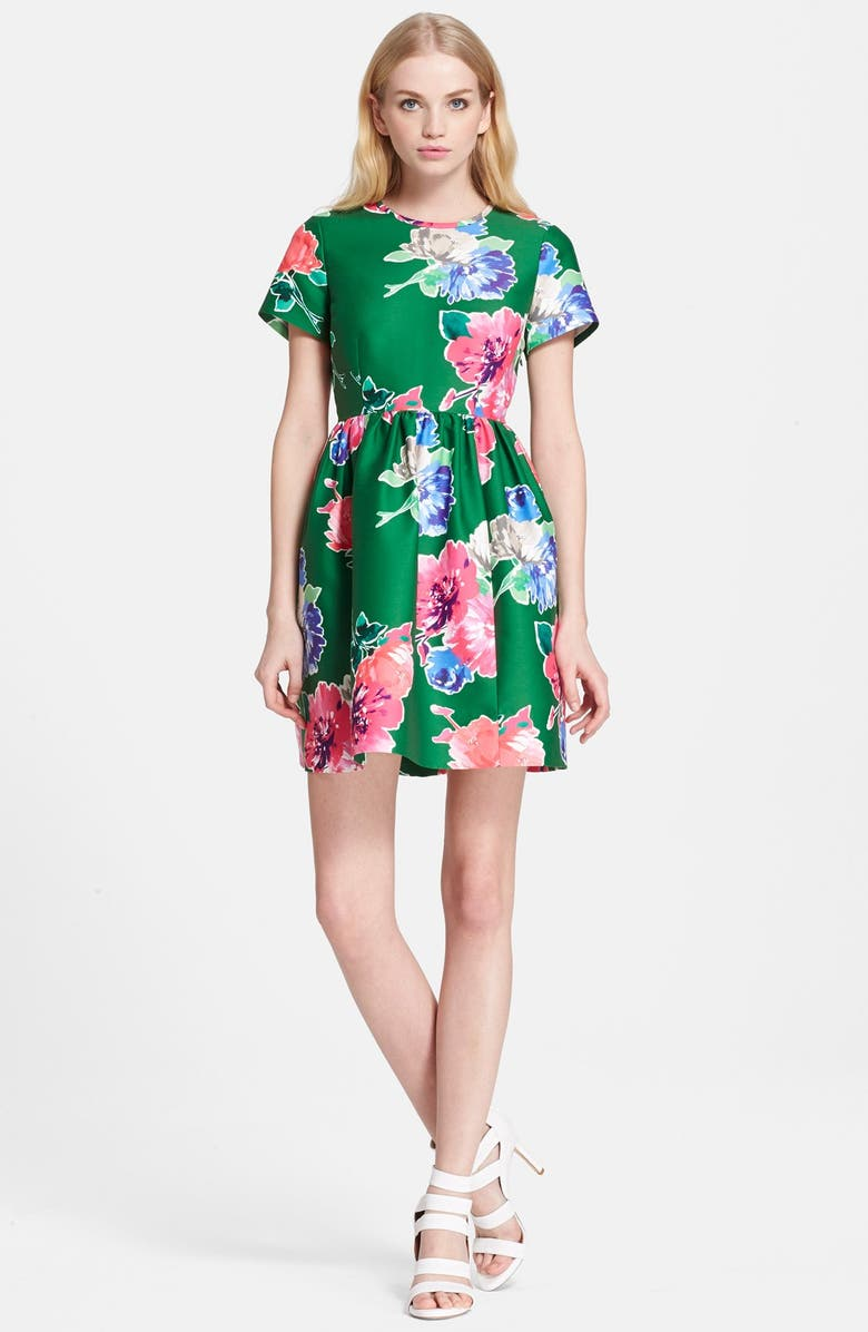 KATE SPADE NEW YORK 'stelli' floral print fit & flare dress, Main, color, 313