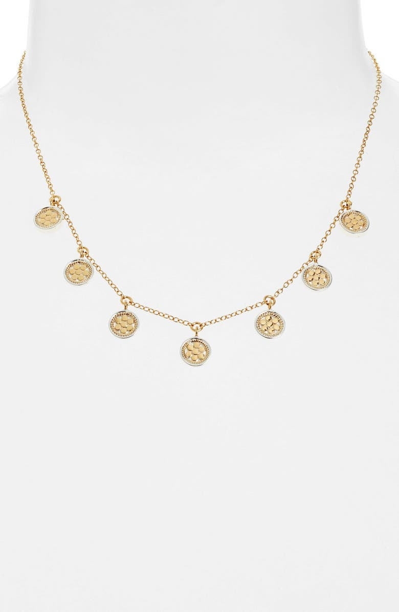 ANNA BECK Charm Collar Necklace, Main, color, GOLD