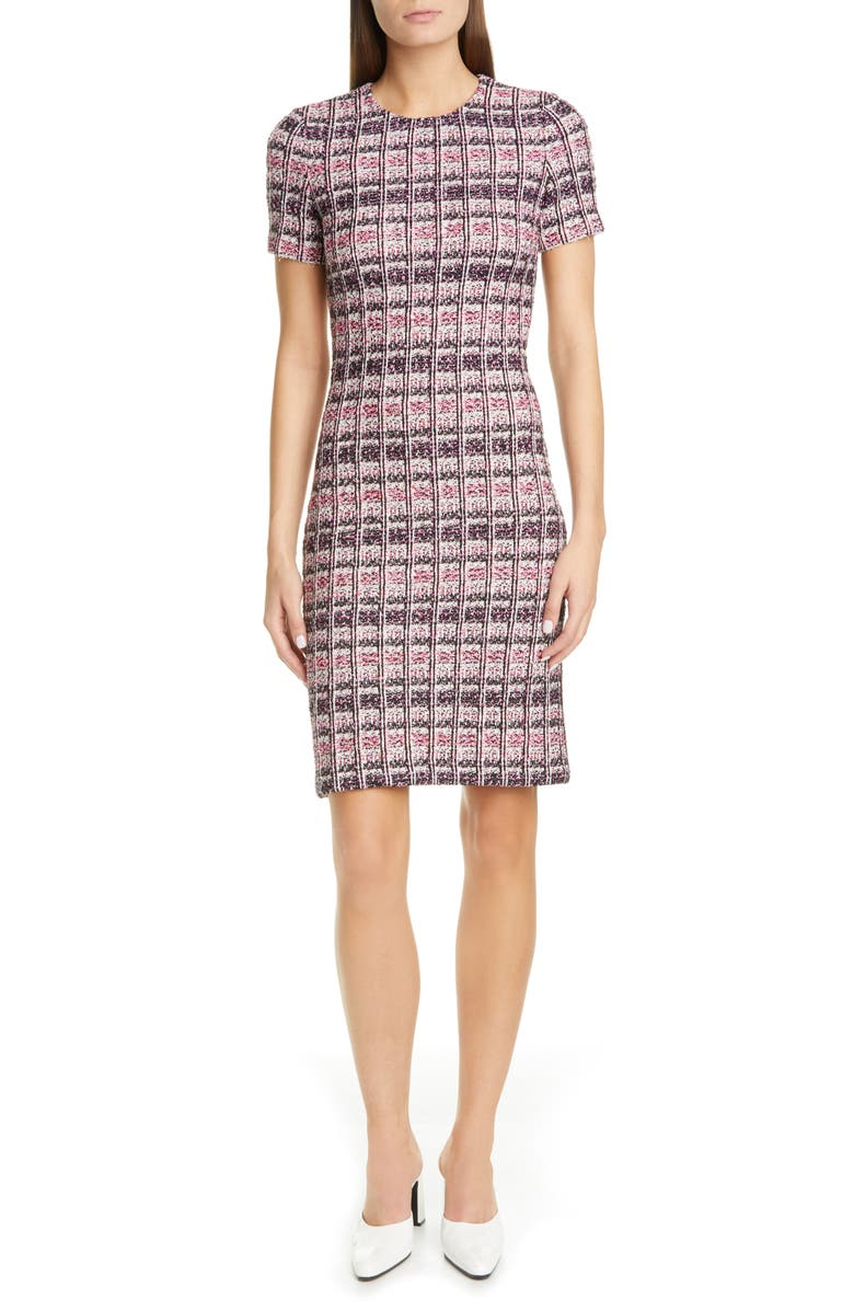 ST. JOHN COLLECTION Monarch Textured Tweed Knit Sheath Dress, Main, color, 650