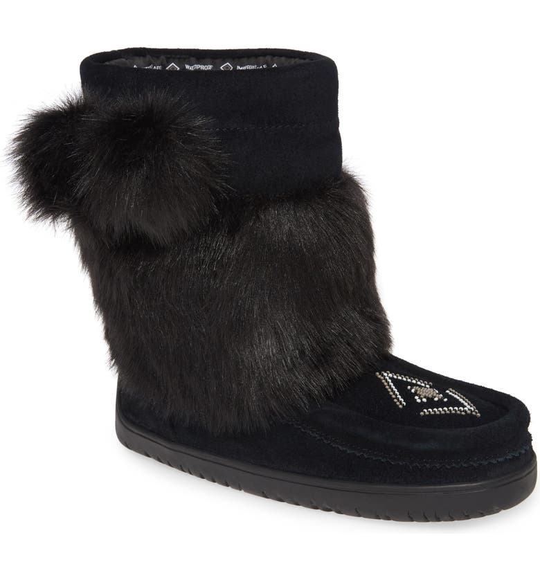 MANITOBAH MUKLUKS Faux Fur & Waterproof Snow Boot, Main, color, 001