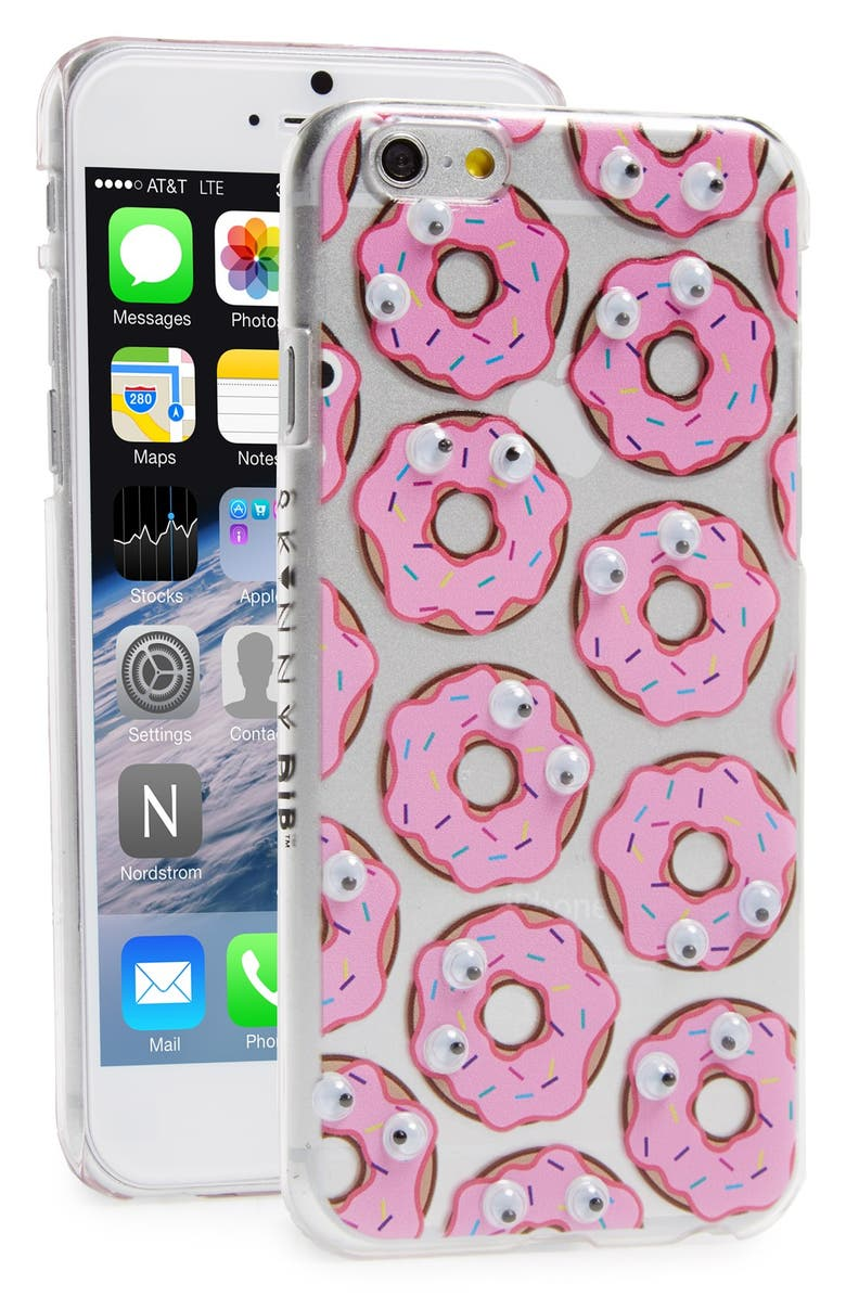 SKINNYDIP 'Donut' Googly Eyes iPhone 6 Case, Main, color, 650