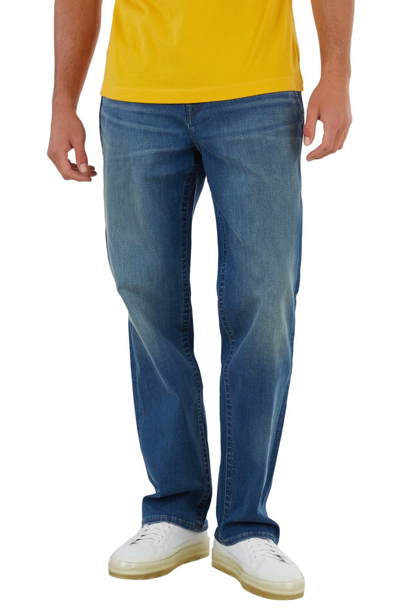 TRUE RELIGION Devin Relaxed Straight Leg Jeans, Main, color, REGENERATED BLUE