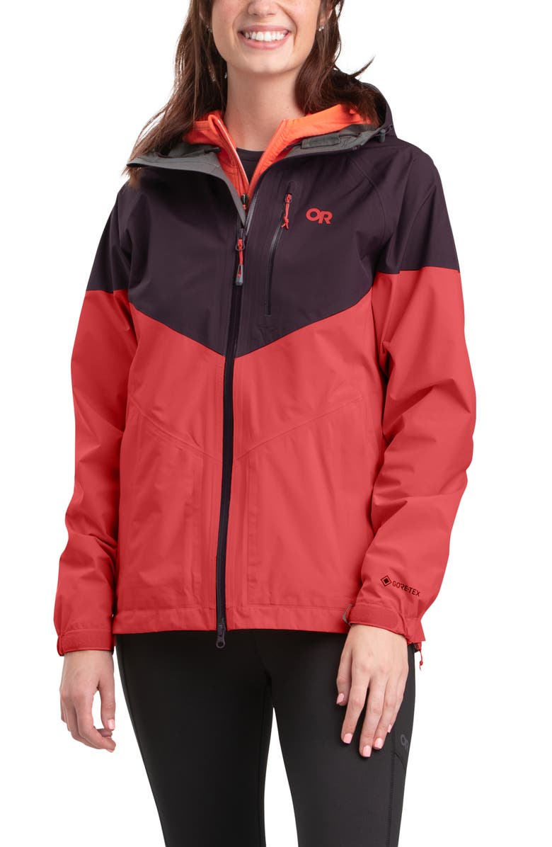 OUTDOOR RESEARCH Aspire Gore-Tex<sup>®</sup> Hooded Jacket, Main, color, ELK/ SUNSET