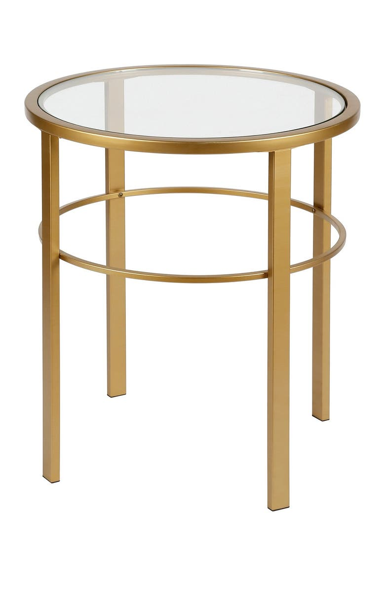ADDISON AND LANE Gaia Brass Finish Side Table, Main, color, BRASS