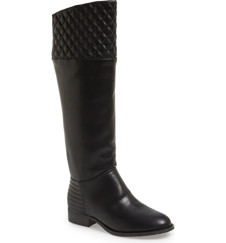 CHINESE LAUNDRY 'Fallout' Stretch Riding Boot, Main, color, BLACK