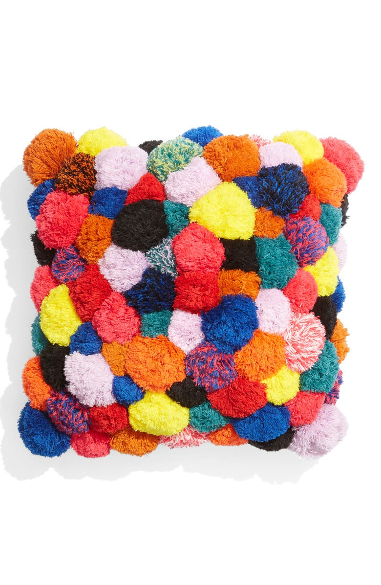 VERLOOP All Over Pom Accent Pillow, Main, color, BRIGHTS