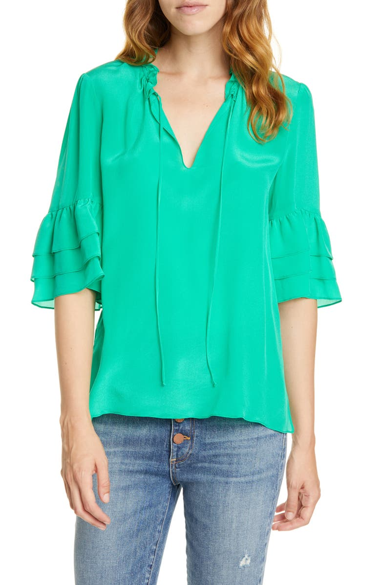 ALICE + OLIVIA Julius Tier Sleeve Tunic, Main, color, 348