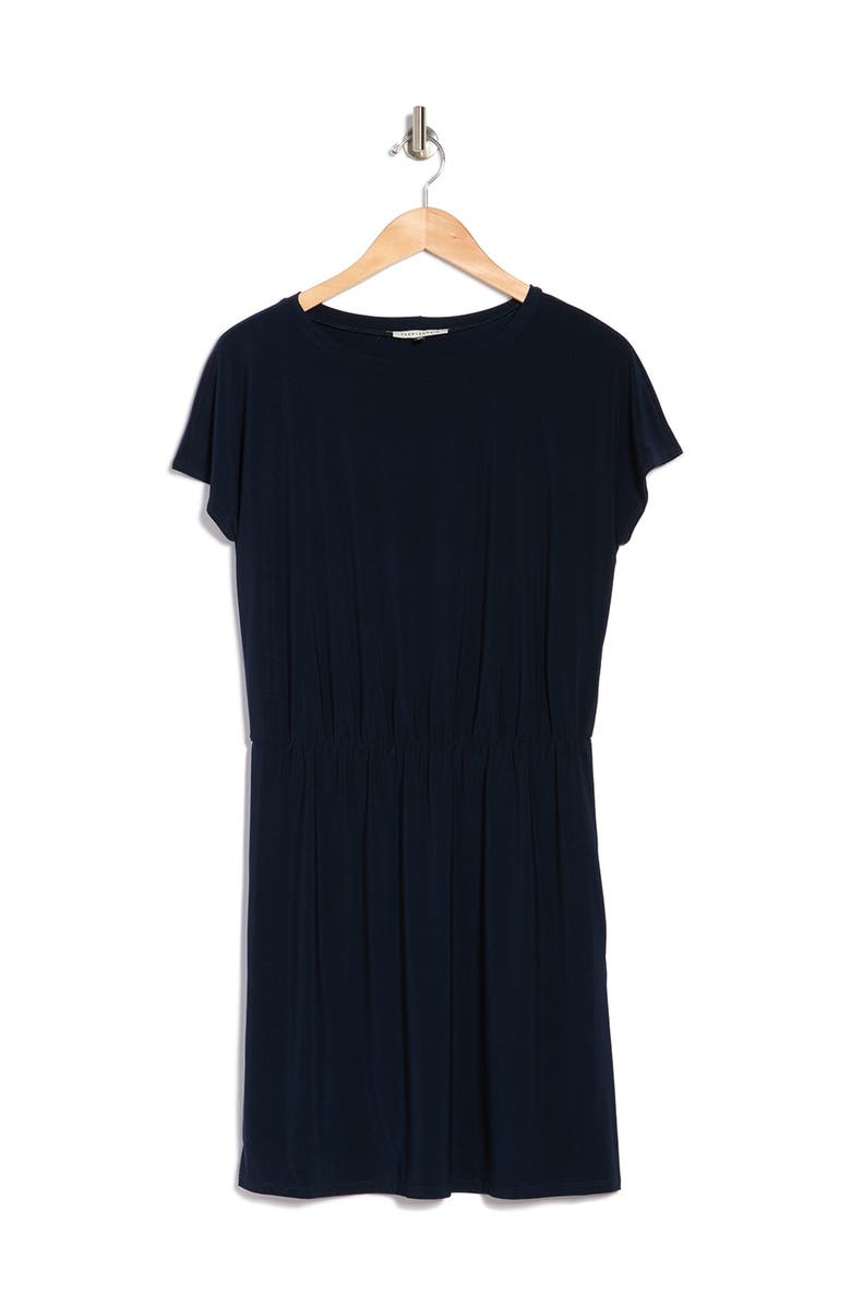 TASH AND SOPHIE Pull On Dress w/ Pockets, Main, color, NVY