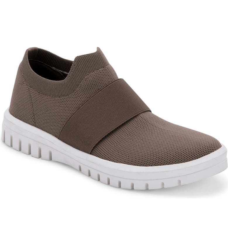 BLONDO Florence Waterproof Slip-On Sneaker, Main, color, TAUPE KNIT