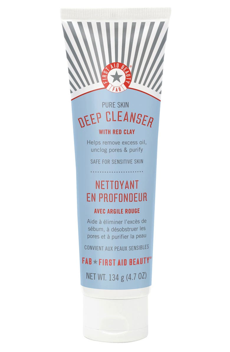 FIRST AID BEAUTY Pure Skin Deep Cleanser with Red Clay, Main, color, NO COLOR