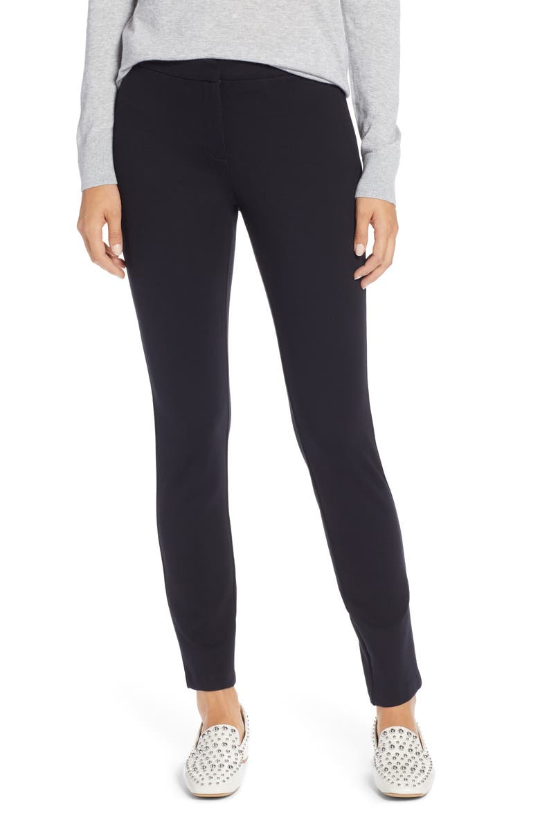 HALOGEN<SUP>®</SUP> Ponte Skinny Pants, Main, color, 001