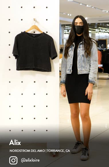 Stay In Oversize Crop T-Shirt, sales video thumbnail