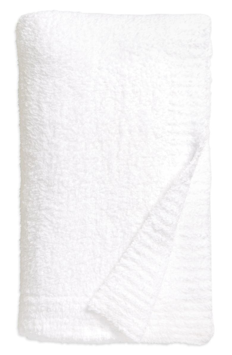 BAREFOOT DREAMS<SUP>®</SUP> CozyChic<sup>™</sup> Throw Blanket, Main, color, WHITE