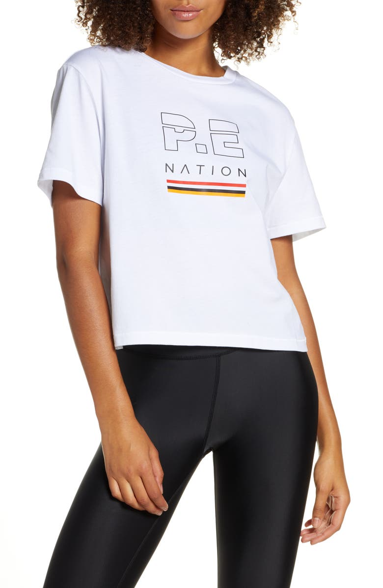 P.E NATION Ignition Cropped Tee, Main, color, 100