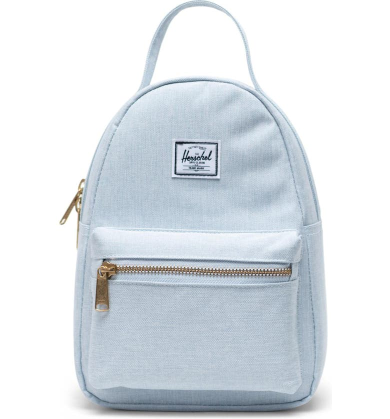 HERSCHEL SUPPLY CO. Mini Nova Backpack, Main, color, BALLAD BLUE PASTEL CROSSHATCH