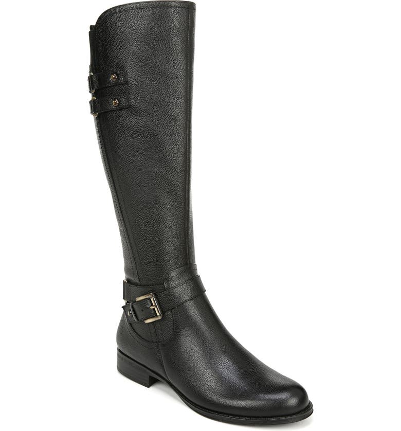 NATURALIZER Jackie Tall Riding Boot, Main, color, BLACK LEATHER