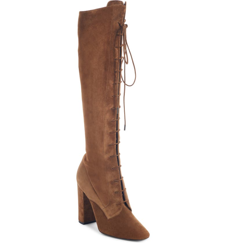 SAINT LAURENT Laura Over the Knee Lace-Up Boot, Main, color, 230