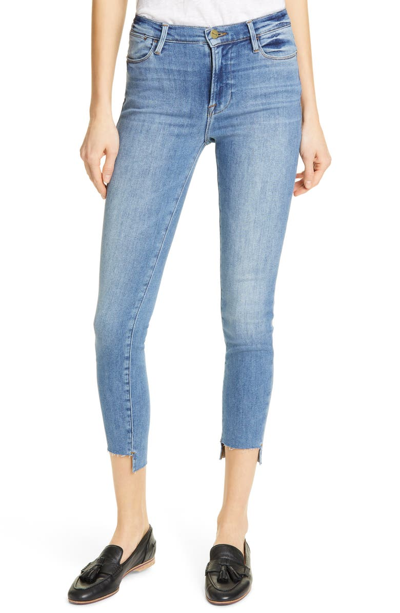 FRAME Le High Step Hem Crop Skinny Jeans, Main, color, WESTWAY