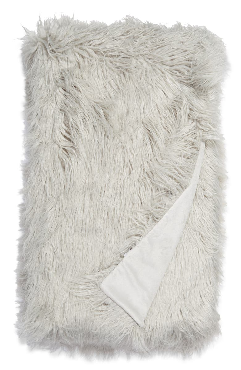 NORDSTROM Mongolian Faux Fur Throw Blanket, Main, color, 050