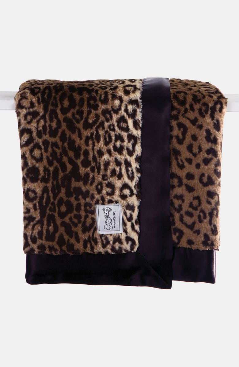 LITTLE GIRAFFE Leopard Print Blanket, Main, color, ESPRESSO