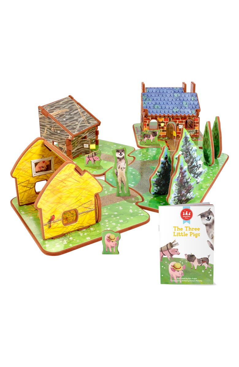 STORYTIME 'The Three Little Pigs' Book & Play Set, Main, color, 960