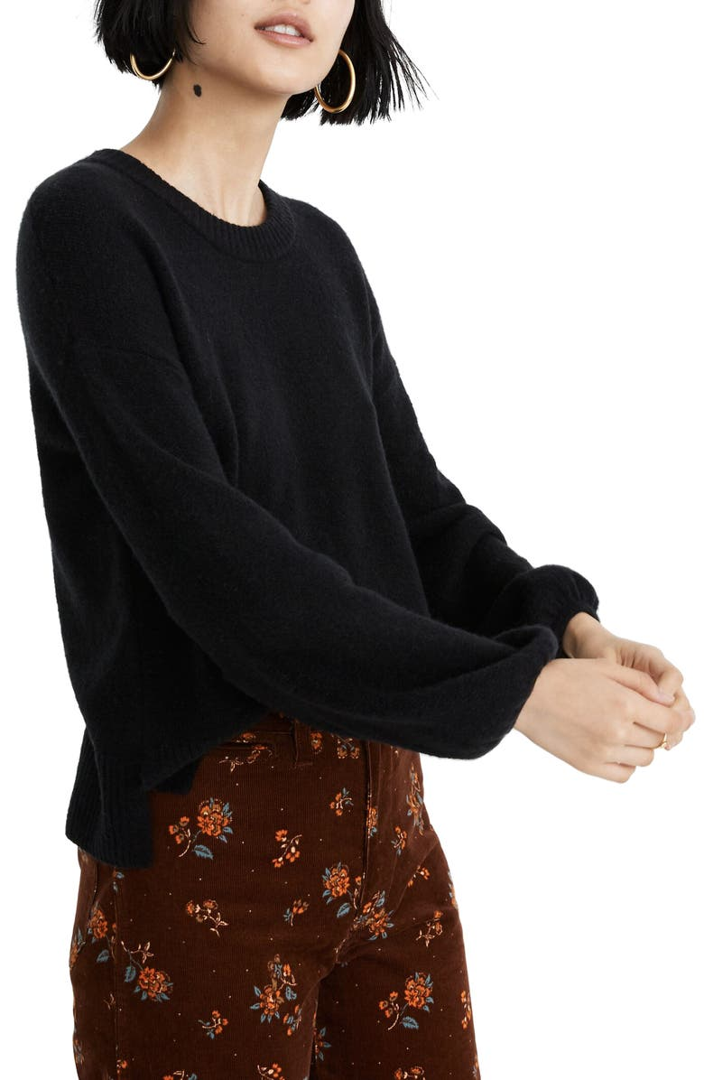 MADEWELL Payton Pullover Sweater, Main, color, 001