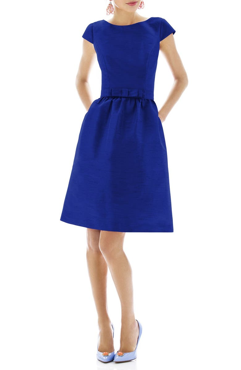 ALFRED SUNG Woven Fit & Flare Dress, Main, color, 412