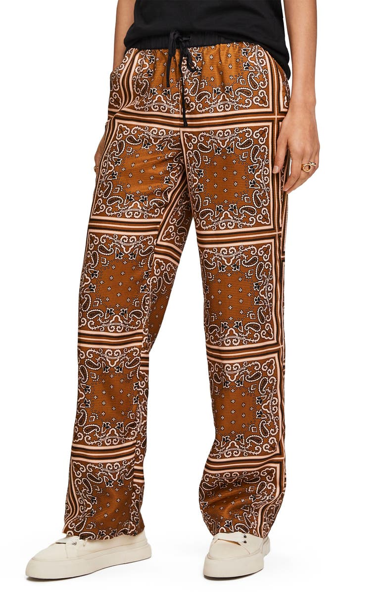 SCOTCH & SODA Bandana Print Wide Leg Pants, Main, color, 210