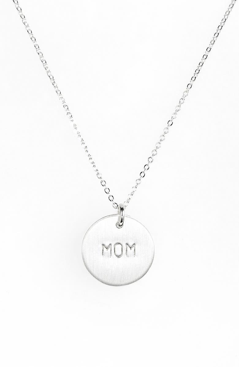 NASHELLE Sterling Silver Mom Charm Necklace, Main, color, 040