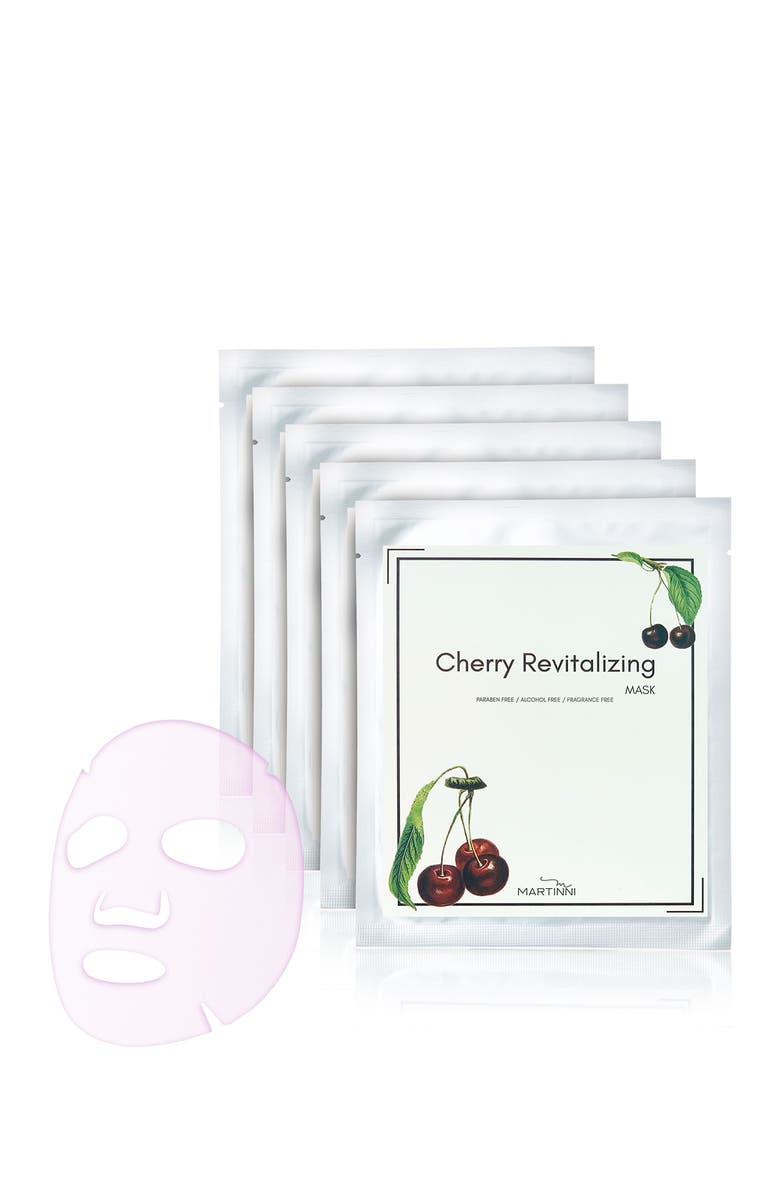 MARTINNI Cherry Revitalizing Face Mask - Pack of 5, Main, color, NO COLOR