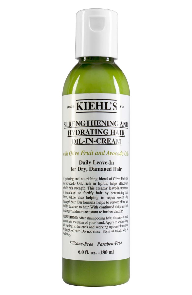 KIEHL'S SINCE 1851 Olive Fruit Oil Strengthening and Hydrating Hair Oil-In-Cream, Main, color, No Color