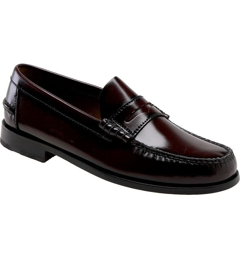 FLORSHEIM 'Berkley' Penny Loafer, Main, color, BURGUNDY