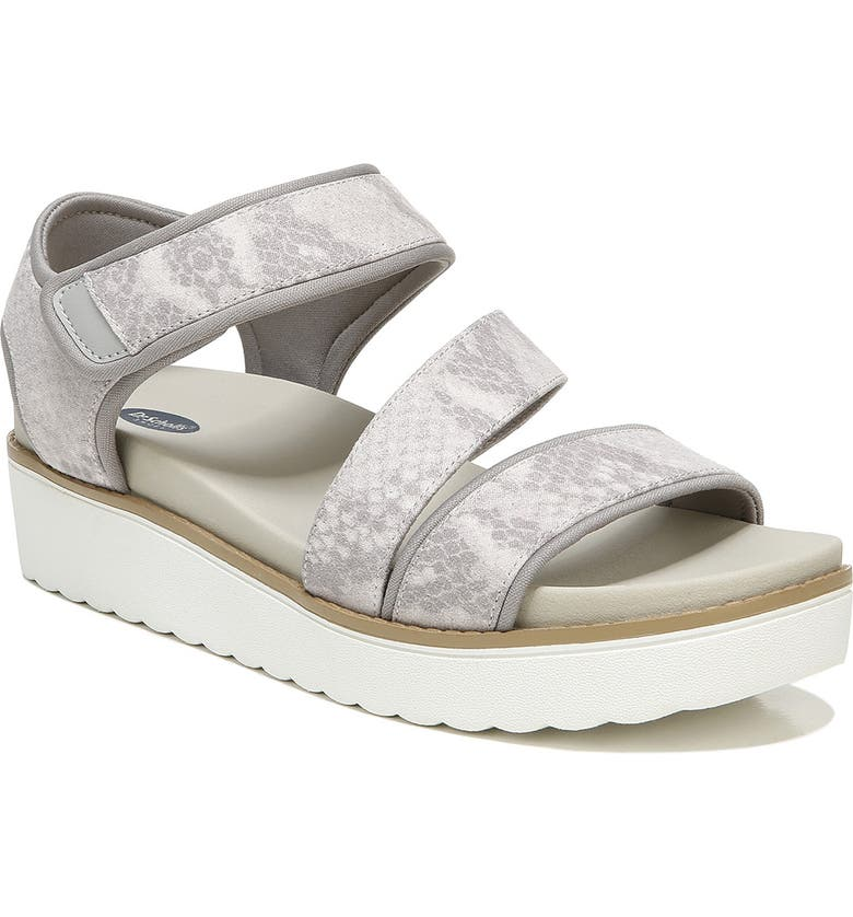 DR. SCHOLL'S Move It Sandal, Main, color, SOFT GREY
